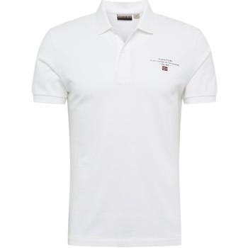 tekstylia Męskie Koszulki polo z krótkim rękawem Napapijri NP0A4E2L Biały
