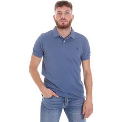 tekstylia Męskie Koszulki polo z krótkim rękawem U.S Polo Assn. 55957 41029 Niebieski