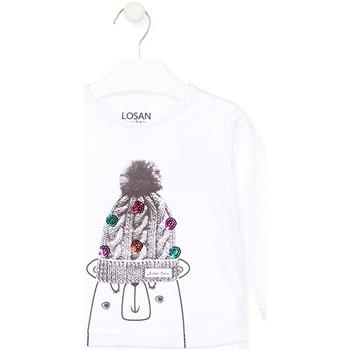 tekstylia Dziecko T-shirty z długim rękawem Losan 026-1007AL Biały