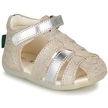 Buty Dziewczynka Sandały Kickers BIGFLO-2 Srebrny