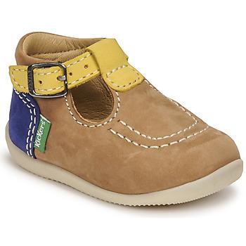 Buty Chłopiec Sandały Kickers BONBEK-2 Beżowy / Żółty / Marine