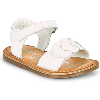 Buty Dziewczynka Sandały Kickers DYASTAR Biały