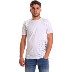 tekstylia Męskie T-shirty z krótkim rękawem Antony Morato MMKS01223 FA100144 Biały