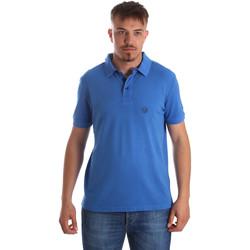 tekstylia Męskie Koszulki polo z krótkim rękawem Gaudi 911BU64063 Niebieski