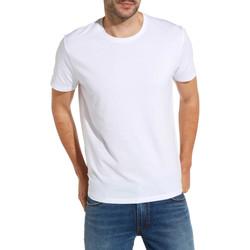 tekstylia Męskie T-shirty z krótkim rękawem Wrangler W7500F Biały