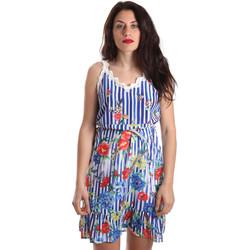 tekstylia Damskie Sukienki krótkie Fracomina FR19SP563 Niebieski