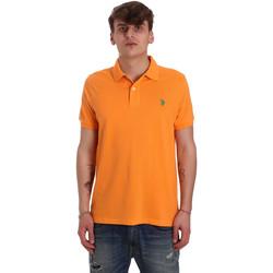 tekstylia Męskie Koszulki polo z krótkim rękawem U.S Polo Assn. 55957 41029 Pomarańczowy