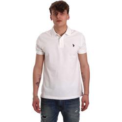 tekstylia Męskie Koszulki polo z krótkim rękawem U.S Polo Assn. 55957 41029 Biały