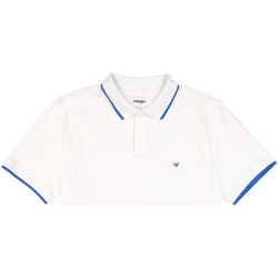 tekstylia Męskie Koszulki polo z krótkim rękawem Wrangler W7D5K4989 Biały