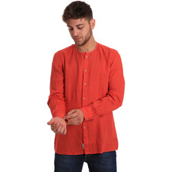 tekstylia Męskie Koszule z długim rękawem Gaudi 811BU45022 Czerwony