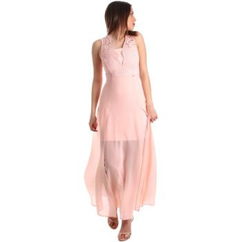 tekstylia Damskie Sukienki długie Gaudi 911FD15004 Różowy
