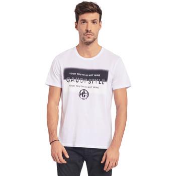 tekstylia Męskie T-shirty z krótkim rękawem Gaudi 011BU64108 Biały