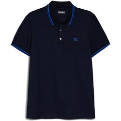 tekstylia Męskie Koszulki polo z krótkim rękawem NeroGiardini E072370U Niebieski