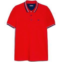tekstylia Męskie Koszulki polo z krótkim rękawem NeroGiardini E072390U Czerwony