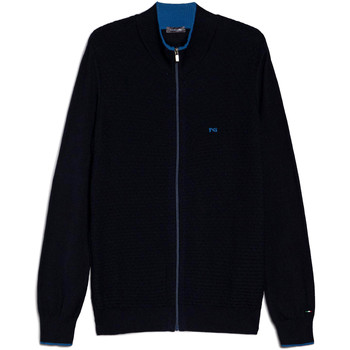 tekstylia Męskie Swetry rozpinane / Kardigany NeroGiardini E074560U Niebieski