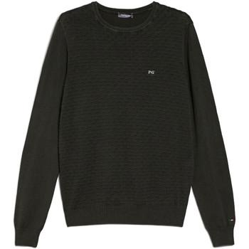 tekstylia Męskie Swetry NeroGiardini E074600U Zielony