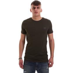 tekstylia Męskie T-shirty z krótkim rękawem Antony Morato MMKS01417 FA120001 Zielony