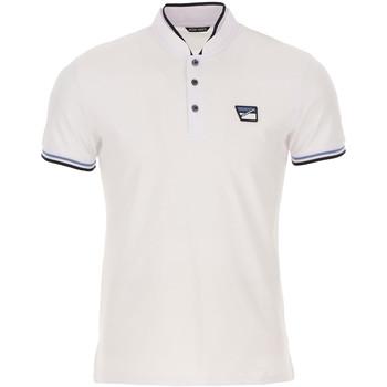 tekstylia Męskie Koszulki polo z krótkim rękawem Antony Morato MMKS01691 FA100083 Biały