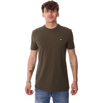 tekstylia Męskie T-shirty z krótkim rękawem Antony Morato MMKS01737 FA120022 Zielony