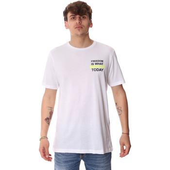tekstylia Męskie T-shirty z krótkim rękawem Antony Morato MMKS01786 FA100189 Biały
