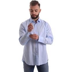tekstylia Męskie Koszule z długim rękawem Gmf 962111/21 Niebieski