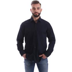 tekstylia Męskie Koszule z długim rękawem Gmf 962250/01 Niebieski