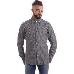 tekstylia Męskie Koszule z długim rękawem Gmf 962169/04 Czarny