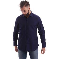 tekstylia Męskie Koszule z długim rękawem Gmf 962103/05 Niebieski