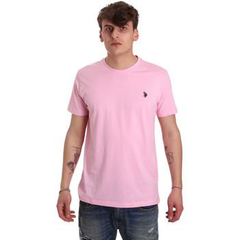 tekstylia Męskie T-shirty z krótkim rękawem U.S Polo Assn. 57084 49351 Różowy
