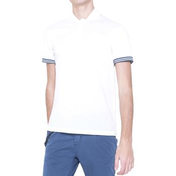 tekstylia Męskie Koszulki polo z krótkim rękawem Antony Morato MMKS00999 FA100083 Biały