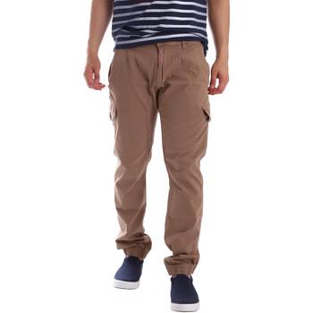 tekstylia Męskie Spodnie bojówki Gaudi 71BU25013 Beżowy
