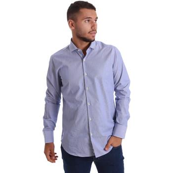 tekstylia Męskie Koszule z długim rękawem Gmf 971263/01 Niebieski