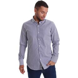 tekstylia Męskie Koszule z długim rękawem Gmf 971264/03 Niebieski