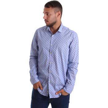 tekstylia Męskie Koszule z długim rękawem Gmf 971200/04 Niebieski