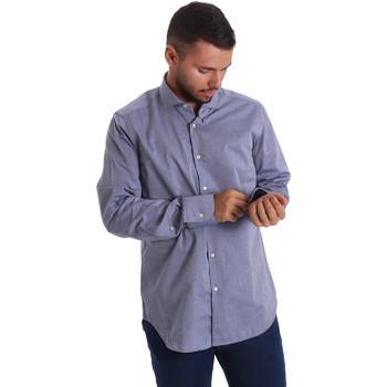 tekstylia Męskie Koszule z długim rękawem Gmf 971134/05 Niebieski