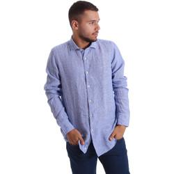 tekstylia Męskie Koszule z długim rękawem Gmf 971314/04 Niebieski