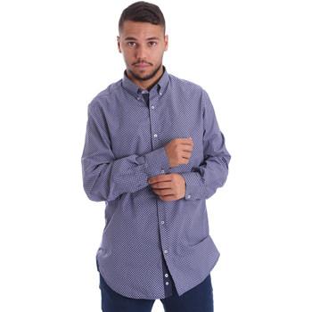 tekstylia Męskie Koszule z długim rękawem Navigare N691010BD Niebieski