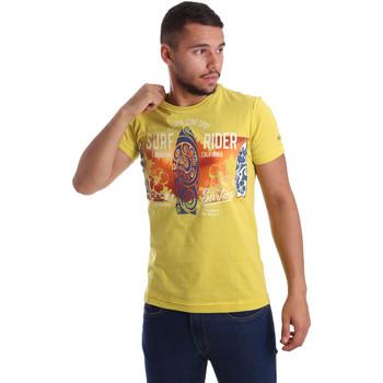 tekstylia Męskie T-shirty z krótkim rękawem Navigare N631017 Żółty