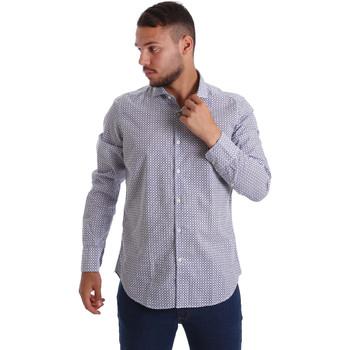 tekstylia Męskie Koszule z długim rękawem Gmf 971184/02 Niebieski