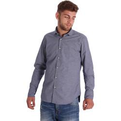 tekstylia Męskie Koszule z długim rękawem Gmf 971192/03 Niebieski