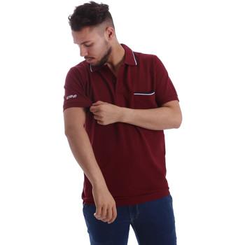 tekstylia Męskie Koszulki polo z krótkim rękawem Key Up 2827Q 0001 Czerwony