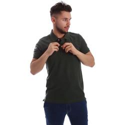 tekstylia Męskie Koszulki polo z krótkim rękawem Key Up 255QG 0001 Zielony