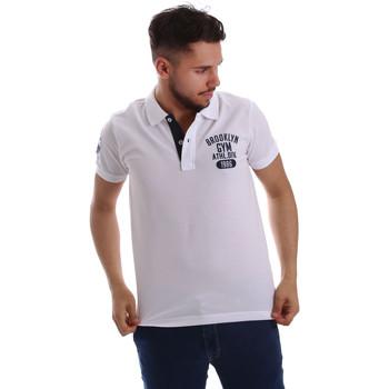 tekstylia Męskie Koszulki polo z krótkim rękawem Key Up 255QG 0001 Biały