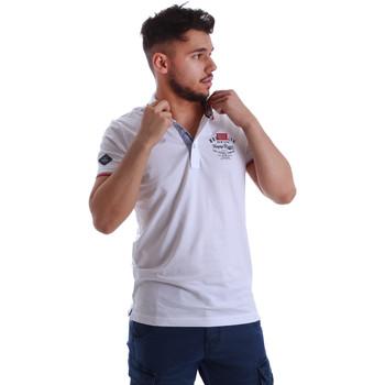 tekstylia Męskie Koszulki polo z krótkim rękawem Key Up 262RG 0001 Biały
