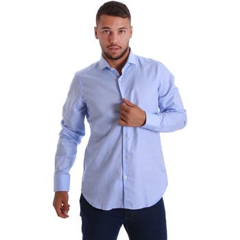 tekstylia Męskie Koszule z długim rękawem Gmf 971103/03 Niebieski
