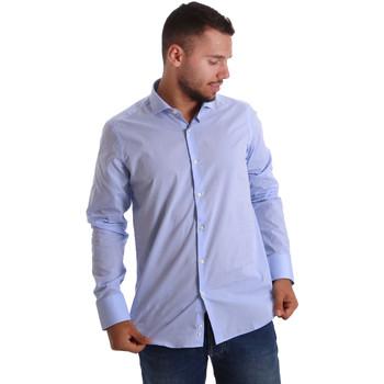 tekstylia Męskie Koszule z długim rękawem Gmf 971101/03 Niebieski