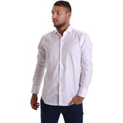 tekstylia Męskie Koszule z długim rękawem Gmf 971103/01 Biały