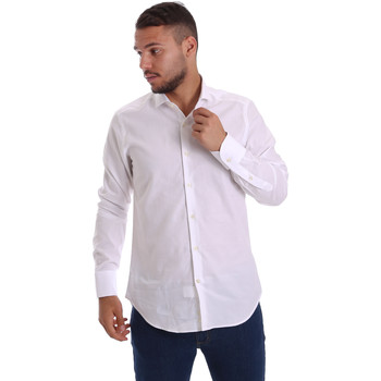 tekstylia Męskie Koszule z długim rękawem Gmf 971111/11 Biały