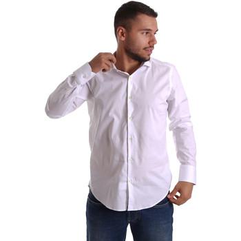tekstylia Męskie Koszule z długim rękawem Gmf 971250/01 Biały