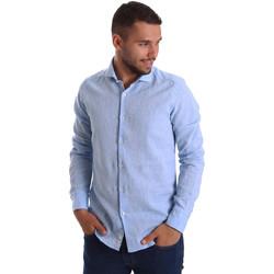 tekstylia Męskie Koszule z długim rękawem Gmf 971306/02 Niebieski